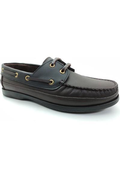 Artmen 1042911 Hakiki Deri Bağcıklı Erkek Kahverengi&siyah Günlük Ayakkabı