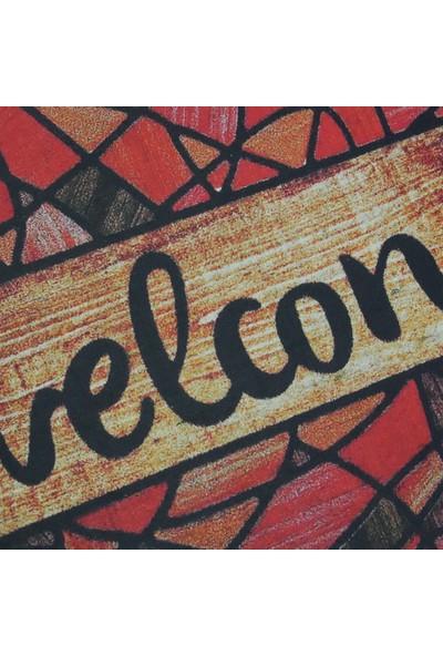 My Floor Myfloor Welcome Temalı Kauçuk Kapı Önü Paspası