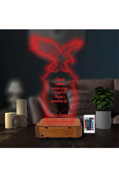 3D Hediye Dünyası Fanatik Beşiktaşlı Bjk Kişiye Özel Isimli Hediye Masa Üstü Lamba 16 Renkli Kumandalı