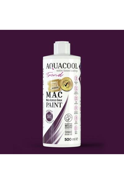 Aquacool Trend Mac Su Bazlı Akrilik Boya Koyu Mor 500 ml