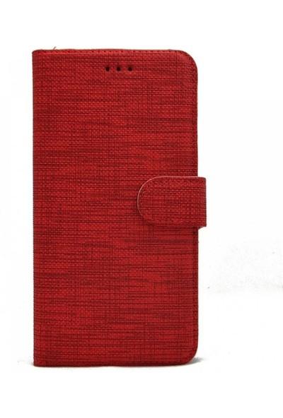 Milat Oppo A91 Cüzdan Kılıf Kapaklı Kartlıklı Kumaş