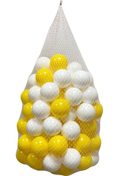Jusso Havuz Topu 6cm 100LÜ - Sarı Beyaz