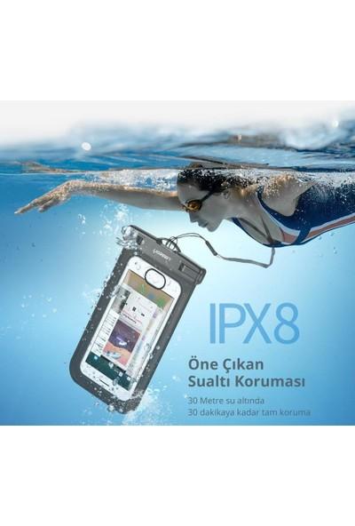 Ugreen Kilit Mekanizmalı Su Geçirmez Boyun Askılı Telefon Kılıfı Siyah