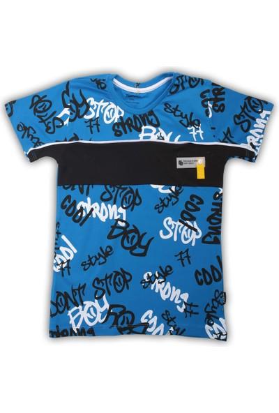 Tuffy Style Stop Boy Baskili Erkek Tisort 5-8 Yas