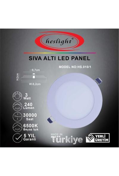 Heslight HS.010/1 3W Sıva Altı LED Panel 6500K Beyaz Işık