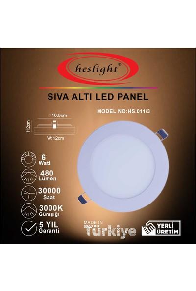 Heslight HS.011/3 6W Sıva Altı LED Panel 3000K Günışığı