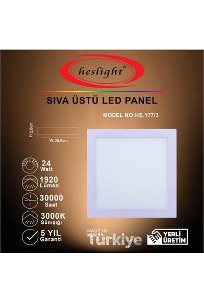 Heslight HS.177/3 24W Sıva Üstü Kare LED Panel 3000K Günışığı
