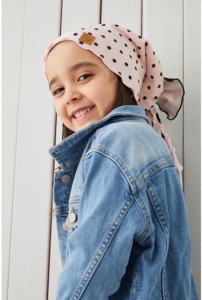 Babygiz Pudra Siyah Çocuk Şapka Bere Yumuşak Pamuklu Penye Elit Seri