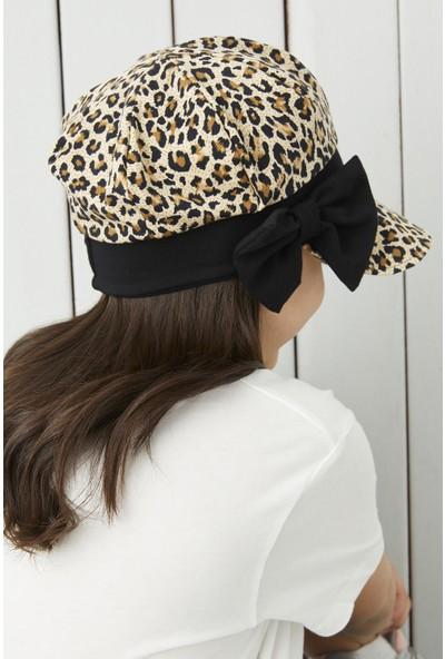 Babygiz Çocuk Leopar Vizyerli 4 Mevsim Şapka Bere -Yumuşak Penye New Desıgn