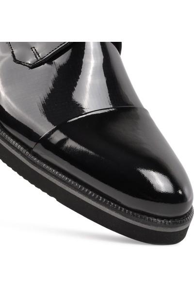 Fosco 2583 Siyah Rugan Deri Erkek Klasik Ayakkabı