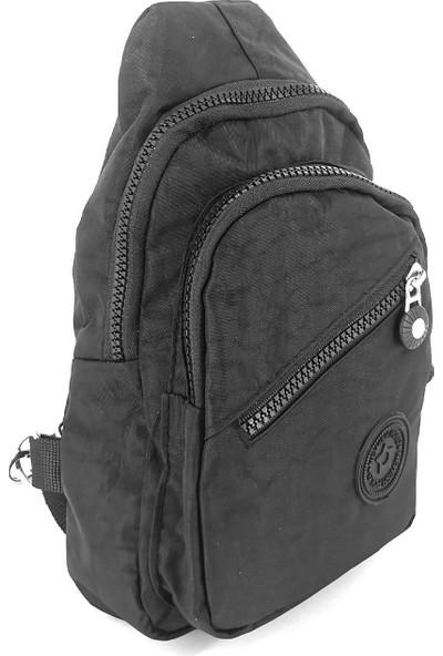 Newish Polo Krinkıl Body Bag Vücut Çantası Unisex Renk Siyah