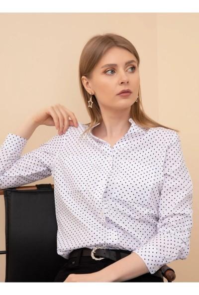 Daisy Hakim Yaka Puantiyeli Gömlek