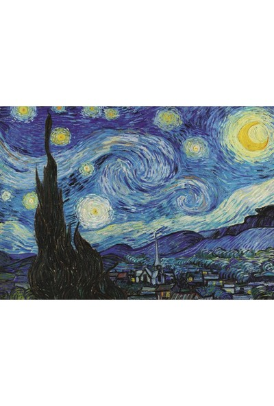 Art Puzzle Yıldızlı Gece, 1889 1000 Parça Puzzle