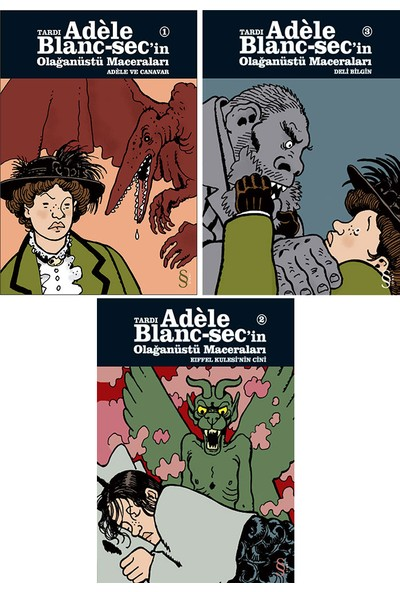 Adele Blanc-Sec'in Olağanüstü Maceraları 3 Kitap Set