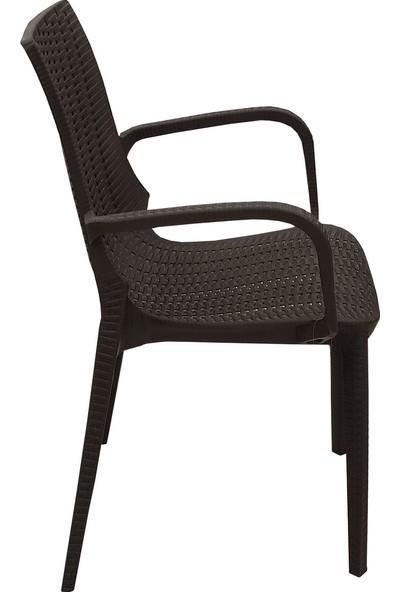 Leva House 4'lü Set Sağlam Nirvana Koltuk Rattan Eko Bahçe Sandalyesi