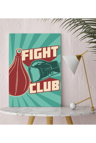 Bitmeyen Kartuş Bk Gift Fight Club Tasarımlı Kanvas Tablo 30X50CM-1