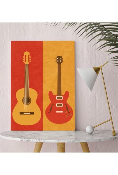 Bitmeyen Kartuş Bk Gift Gitar Tasarımlı Kanvas Tablo 30X50CM-1