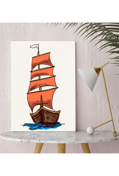 Bitmeyen Kartuş Bk Gift Gemi Tasarımlı Kanvas Tablo 30X50CM-3