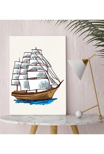 Bitmeyen Kartuş Bk Gift Gemi Tasarımlı Kanvas Tablo 30X50CM-2