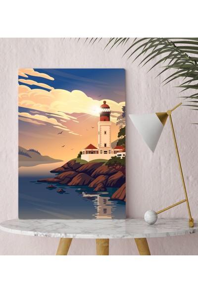 Bitmeyen Kartuş Bk Gift Deniz Feneri Tasarımlı Kanvas Tablo 30X50CM-1