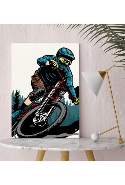 Bitmeyen Kartuş Bk Gift Bisiklet Tasarımlı Kanvas Tablo 30X50CM-3