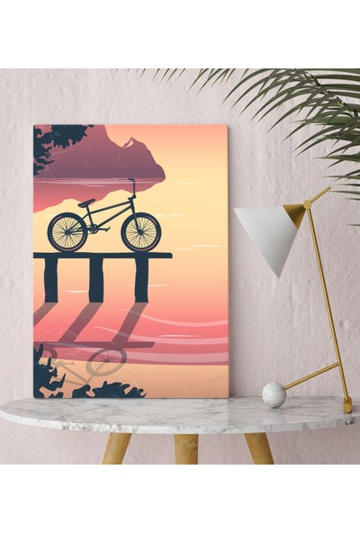 Bitmeyen Kartuş Bk Gift Bisiklet Tasarımlı Kanvas Tablo 30X50CM-2