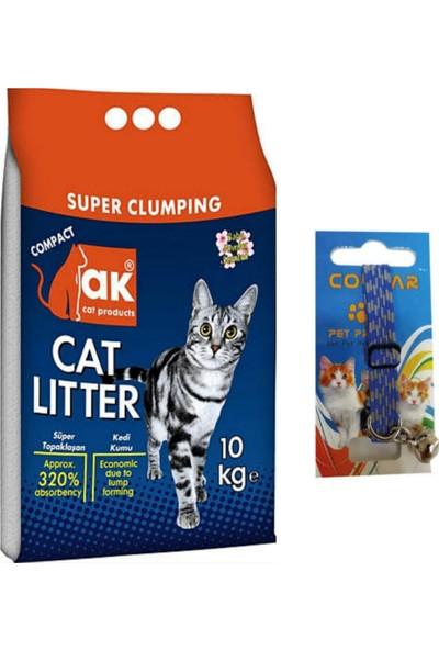 Akkum Bebek Pudralı Kedi Kumu Ince 10 kg + Kedi Boyun Tasması