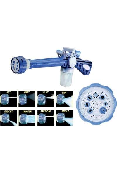 Realx Ez Jet Water Cannon Basınçlı Deterjanlı Oto Yıkama Püskürtme Sistemi Makinesi Su Hortumu Tabancası
