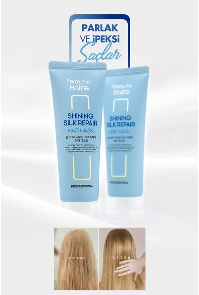 Farmstay Onarıcı Nemlendirici ve Ipeksi Saçlar Için Collagen & Keratin ve Protein Saç Maskesi 120 ml