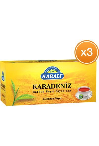 Karali Karadeniz Bardak Poşet Çay 25'li x 3