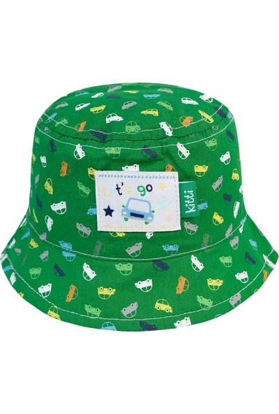 Kitti Erkek Bebek Fötr Şapka 0-18 Ay Yeşil