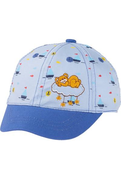 Kitti Erkek Bebek Kep Şapka 0-18 Ay Mavi