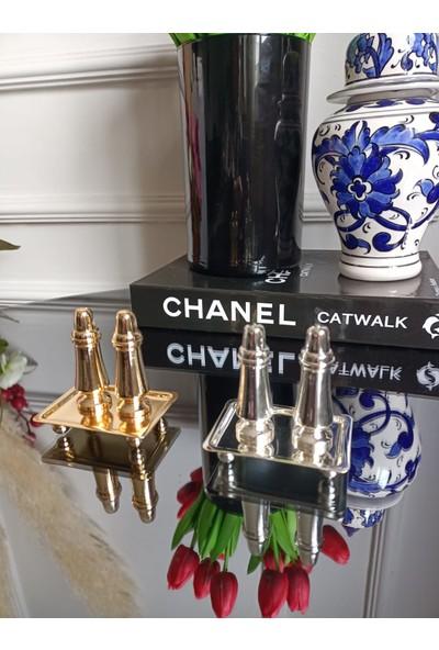 Melt Home Design Gümüş Kaplama Mini Tuzluk Biberlik Seti