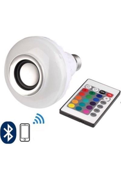 Leddolu - Music Bulb Bluetooth Hoparlör Akıllı LED Ampul Lamba 479