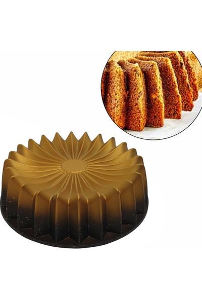 Mutfak Kitap Döküm Lalezar Kek Kalıbı Gold-Siyah