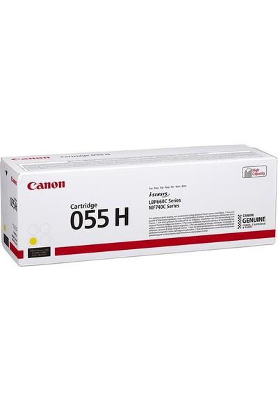 Canon CRG 055 H Y Yüksek Kapasiteli Orijinal Sarı Toner