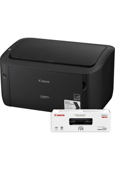 Canon LBP6030B Siyah Beyaz Lazer Yazıcı + CRG 725 (Canon Eurasia Garantili)