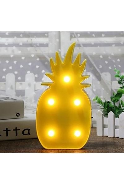 Lumenn Ananas 3D LED Işıklı Gece Lambası-Dekoratif LED Aydınlatma