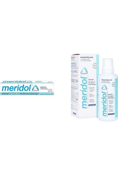 Meridol Diş Macunu 75 ml + Meridol Ağız Bakım Suyu 400 ml