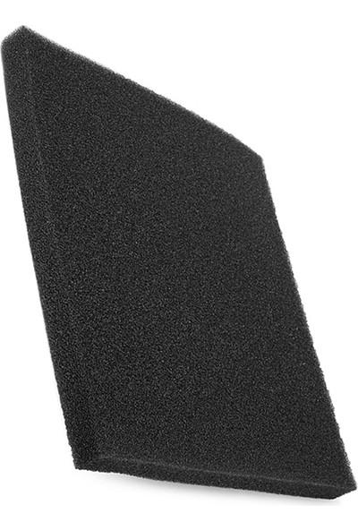 Akvaryum Balık Avm Siyah Biyolojik Sünger 50X25X5 cm Kalın Gözenekli