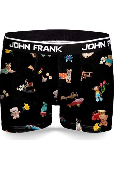 John Frank Toys Erkek Siyah Boxer JFBD327-02