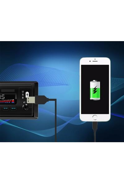 Kingwin KW-3000 Araba Oto Teyp Bluetooth 2 USB Çıkılı Sd 2 Yıl Garantili