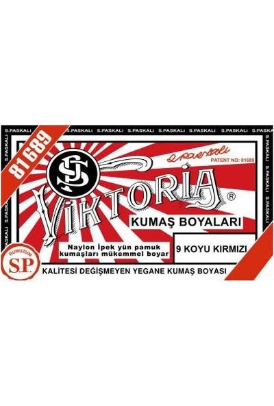 Viktoria 9 Kumaş Boyası Koyu Kırmızı 3'lü