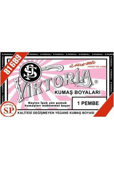 Viktoria 1 Kumaş Boyası Pembe 3'lü