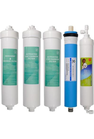 Yzg Tam Bakım Su Arıtma Cihaz Filtresi ( 1.2.3. Inline + Mebran + Tatlandırıcı )