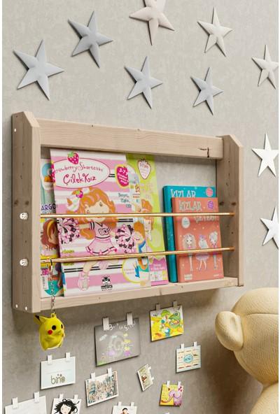 Bino Çalışma Odası Kitaplık Duvar Rafı Montessori Kitaplık Çocuk Odası Raf Oyuncak Rafı Bebek Odası