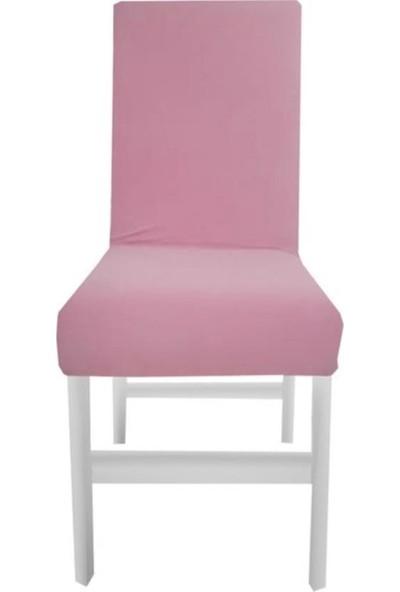 Bella Home Sandalye Kılıfı Kadife Pembe 6 Adet