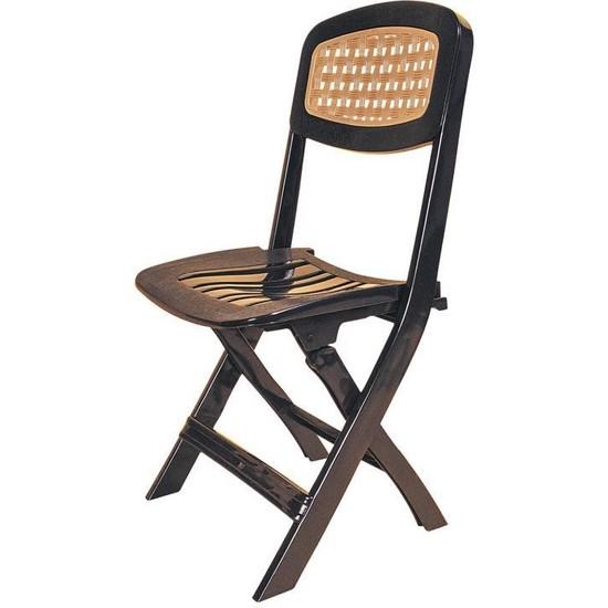 Omnipazar SY-2530 Katlanır Lüks Plastik Sandalye Siyah
