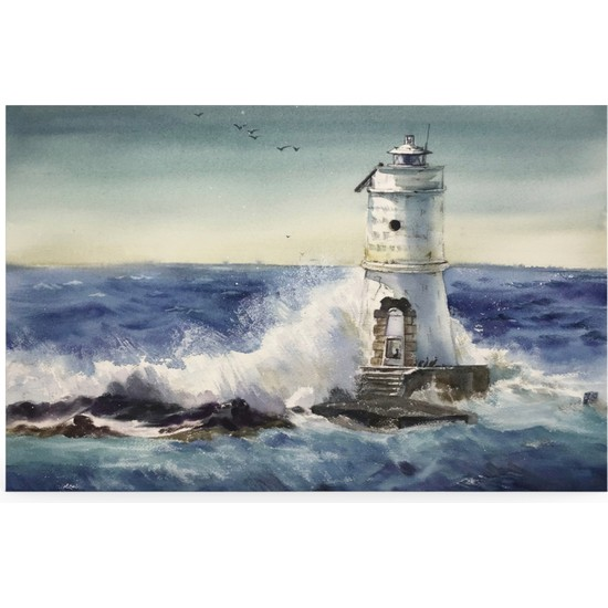 Treedi Art Deniz Feneri Dekoratif Tablo