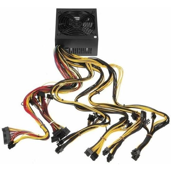 Hiport Maxpower 2000W 1x 20+4pin, 3x Ide, 6x Sata, 16X 6+2p Mining Powersuply